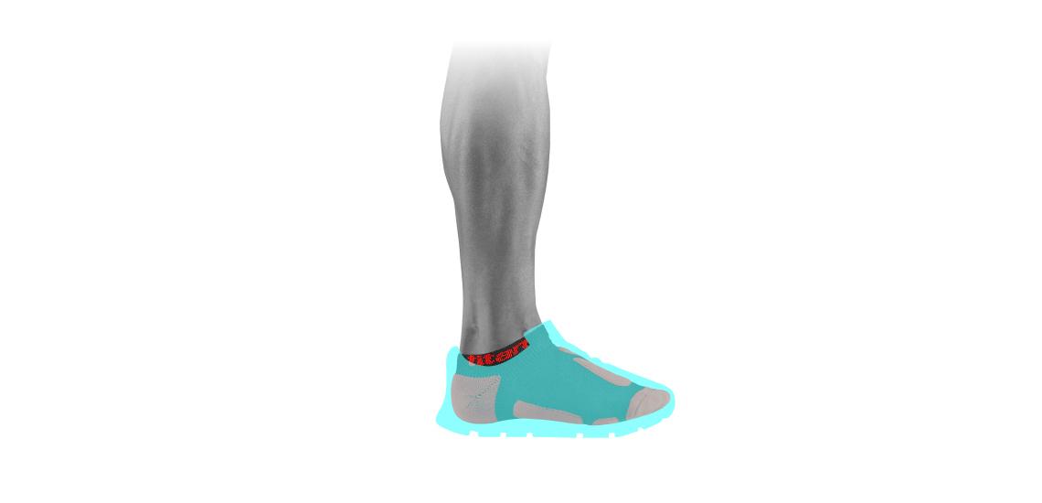 功能慢跑踝襪 2s