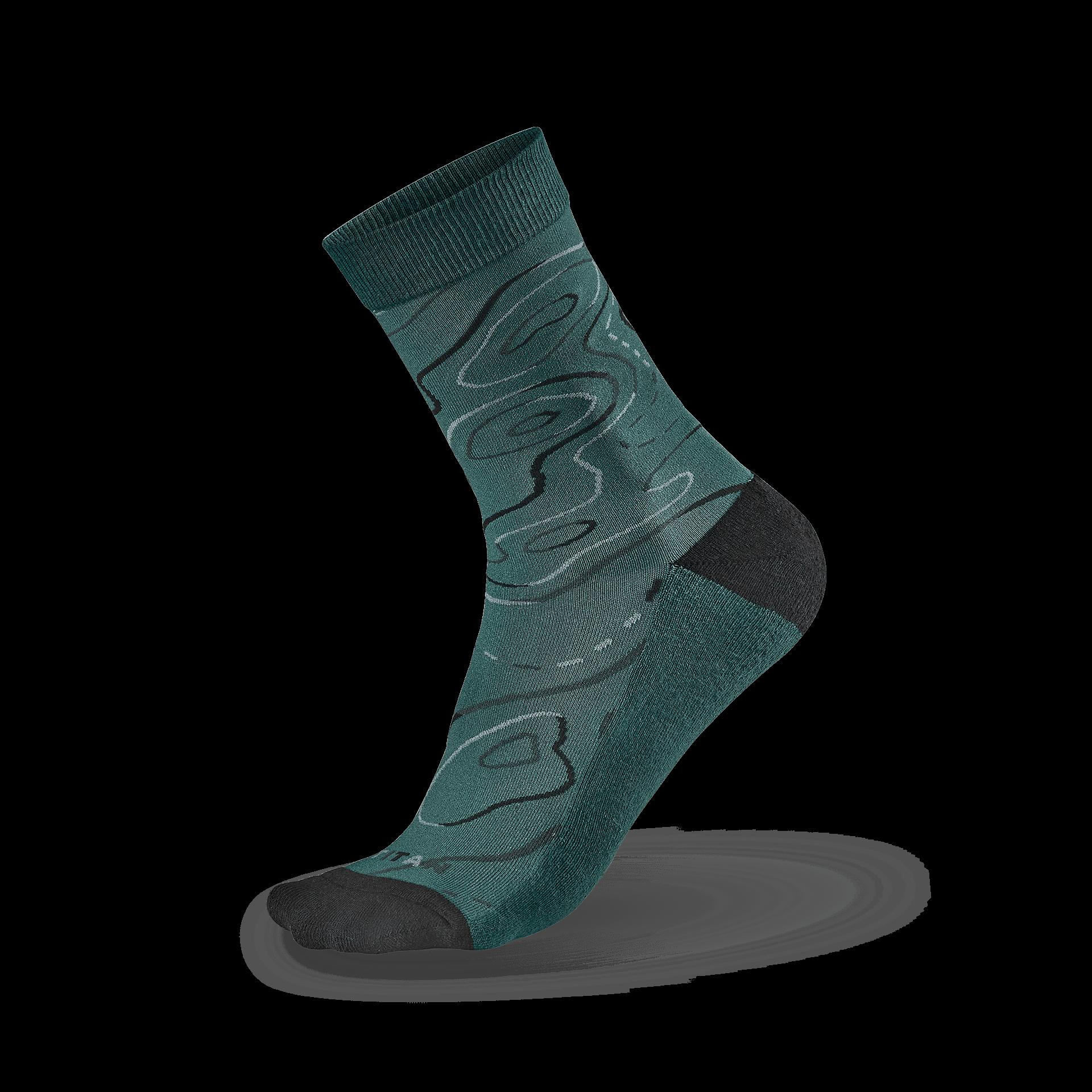 風格生活襪 等高線